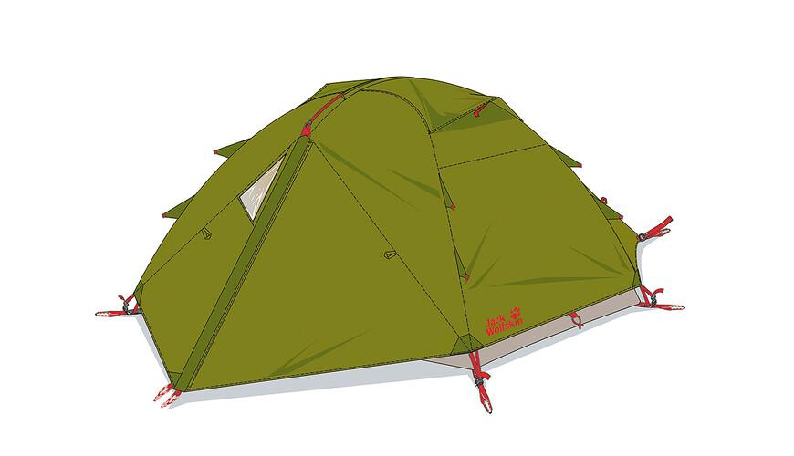 Jack Wolfskin Eclipse III tent groen